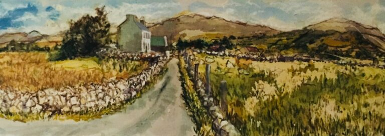 Connemara road, oil on canvas, 152cm x 46cm, 2003