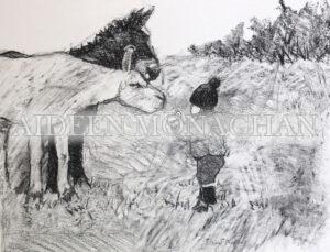 Careful Now!, Giclée print on Fine Art Paper